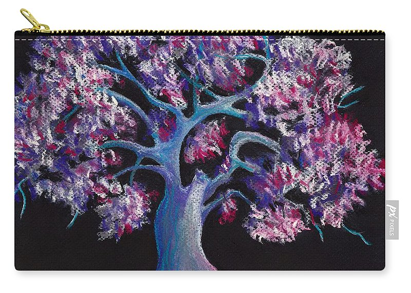 Malakhova Carry-all Pouch featuring the drawing Magic Tree by Anastasiya Malakhova