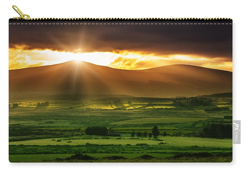 Cloudscape Carry-all Pouch featuring the photograph Magic Valley by Semmick Photo