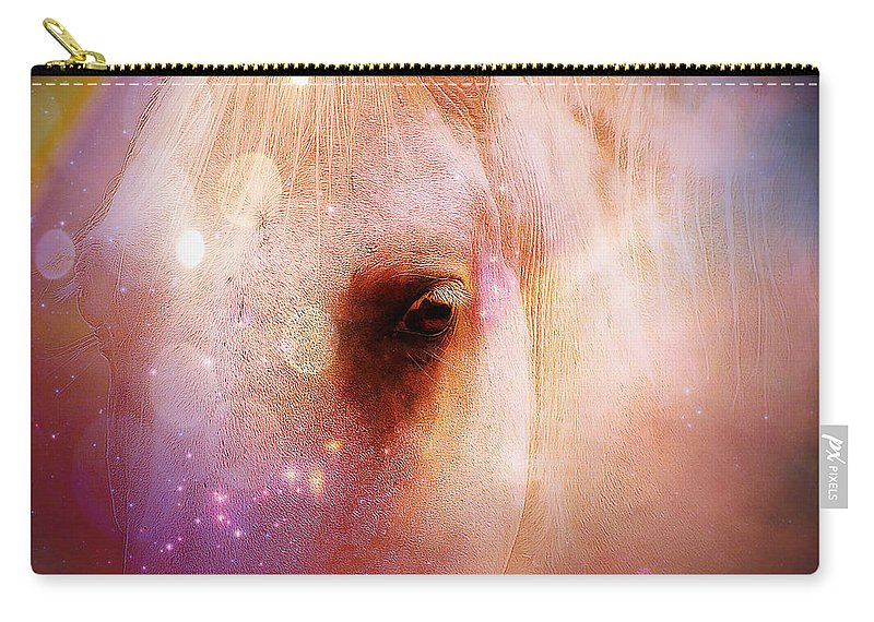 Horse Carry-all Pouch featuring the photograph Magical Horse - Featured In 'comfortable Art Group' by Ericamaxine Price