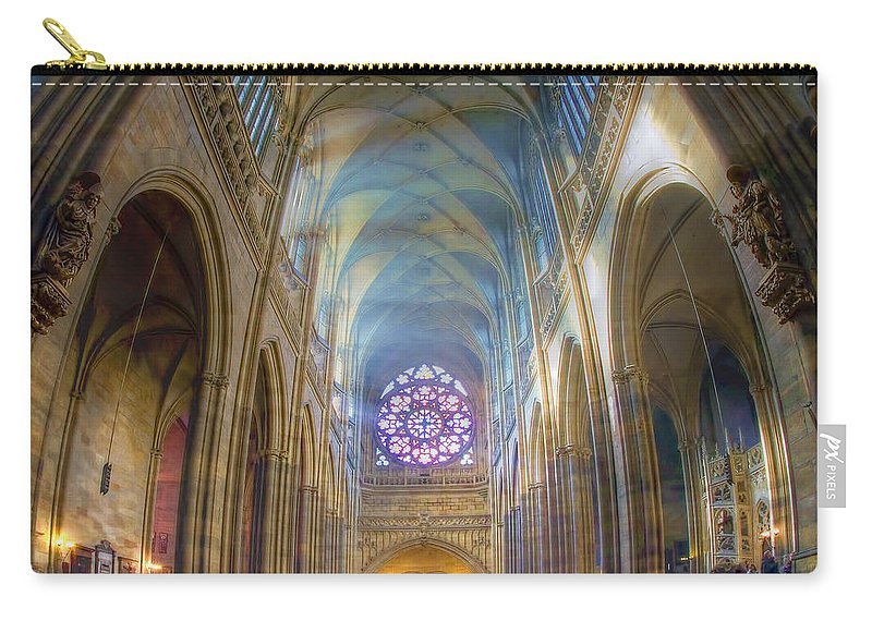Church Carry-all Pouch featuring the photograph Magical Light by Joan Carroll