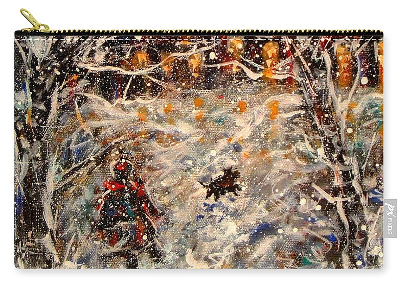 Landscape Carry-all Pouch featuring the painting Magical Night by Natalie Holland