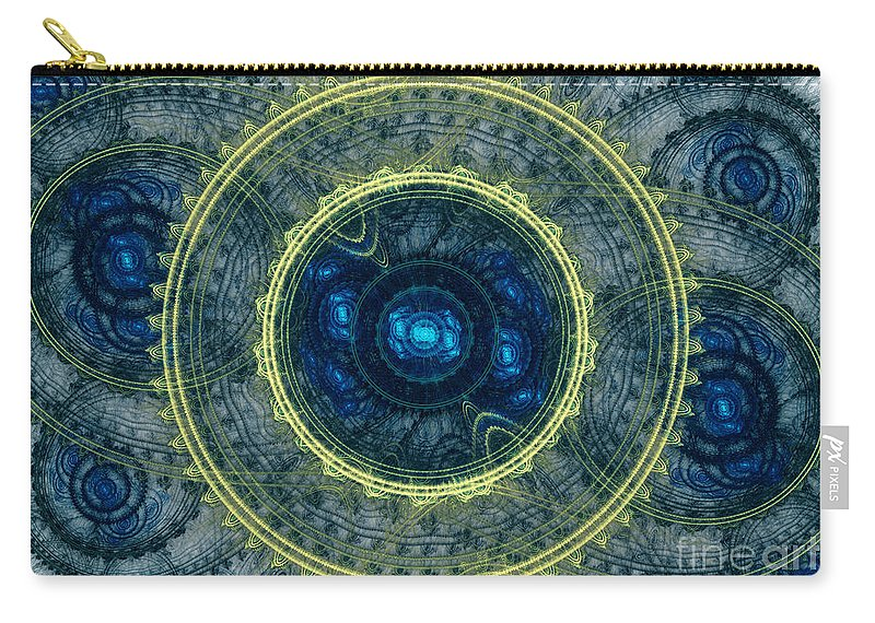 Abstract Carry-all Pouch featuring the digital art Magical Seal Of The Sea by Martin Capek