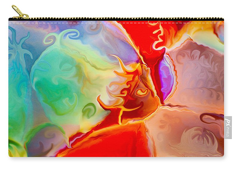 Magicians Assistant Carry-all Pouch featuring the painting Magicians Assistant by Omaste Witkowski