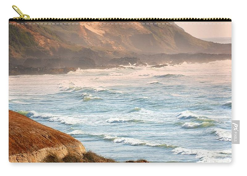 Beach Carry-all Pouch featuring the photograph Magnificent Coast by Marty Koch