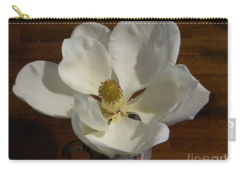 Magnolia Carry-all Pouch featuring the photograph Magnolia Still 1 by Nathanael Smith