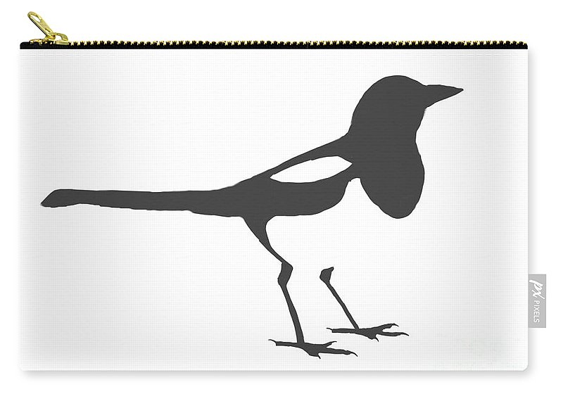 Magpie Carry-all Pouch featuring the digital art Magpie by Declan Leddy