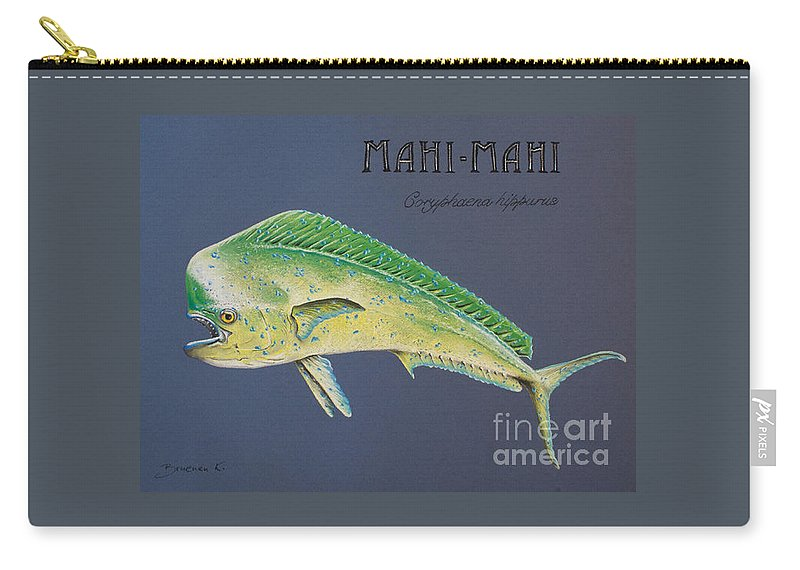 Mahi Mahi Carry-all Pouch featuring the pastel Mahi-mahi by Katharina Filus