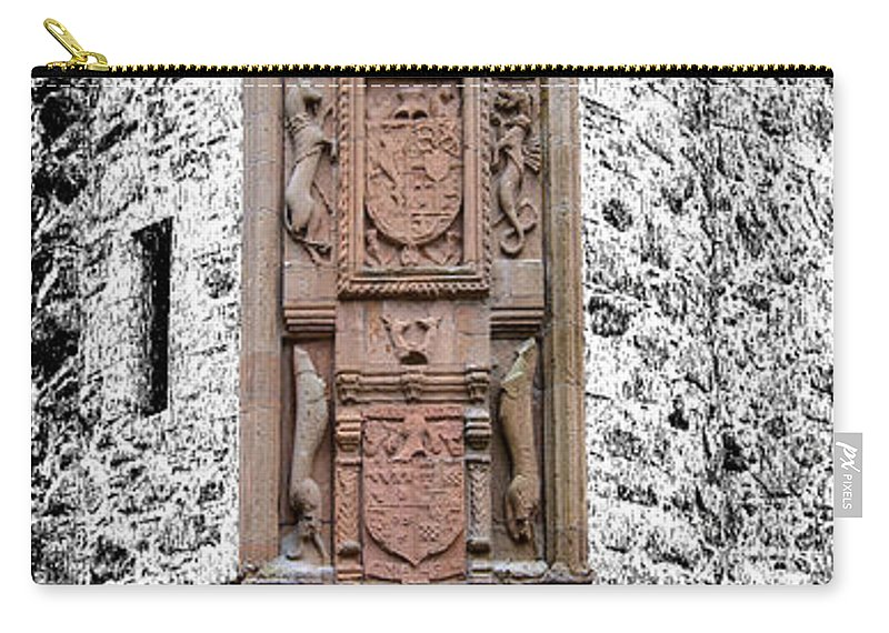 Huntly Carry-all Pouch featuring the photograph Main Door Huntly Castle - 7 by Paul Cannon