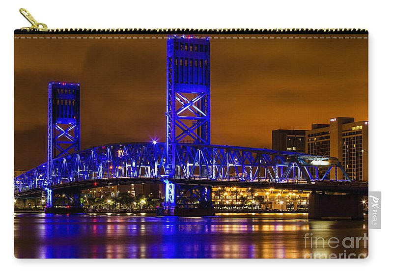 Main Street Bridge Carry-all Pouch featuring the photograph Main Street Bridge Jacksonville Florida by Dawna Moore Photography