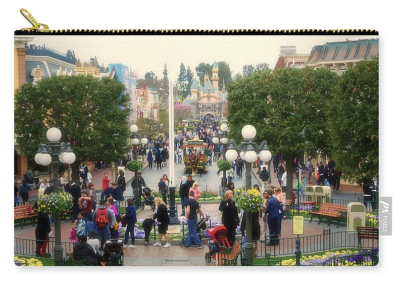 Disney Carry-all Pouch featuring the photograph Main Street Disneyland 02 by Thomas Woolworth