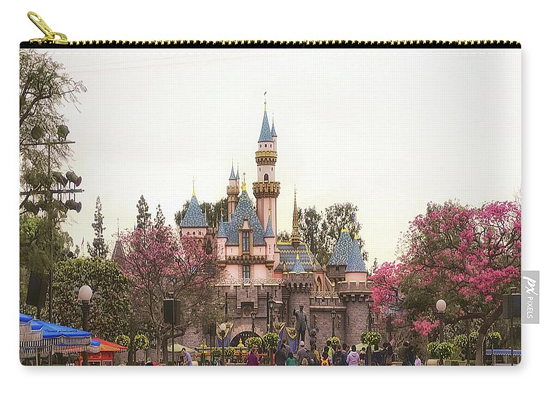 Disney Carry-all Pouch featuring the photograph Main Street Sleeping Beauty Castle Disneyland 02 by Thomas Woolworth