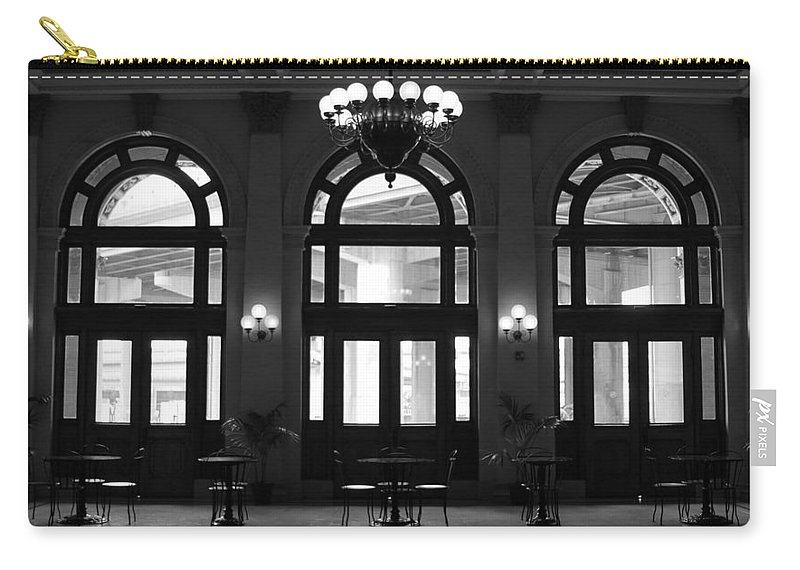 Richmond Carry-all Pouch featuring the photograph Main Street Station by Tina Meador