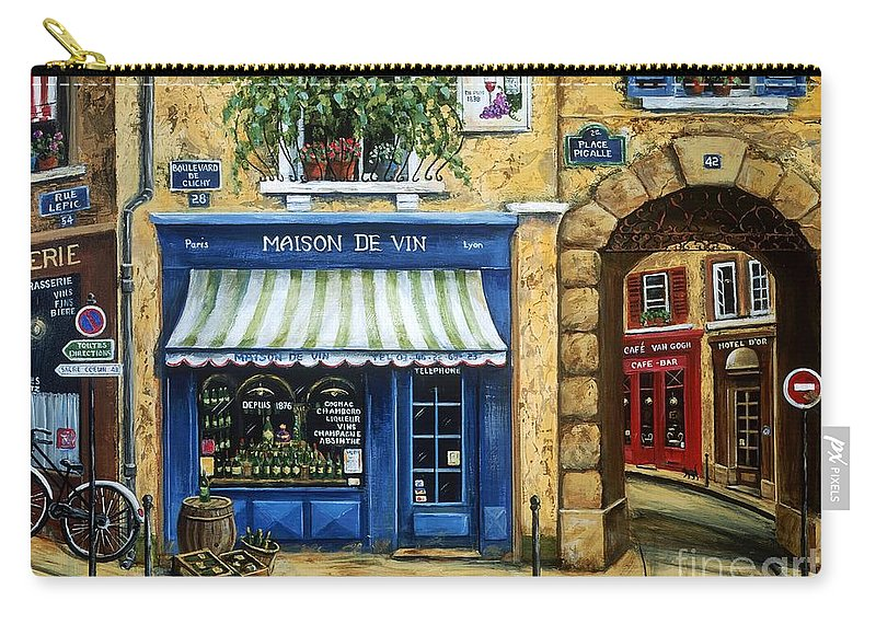 Wine Carry-all Pouch featuring the painting Maison De Vin by Marilyn Dunlap