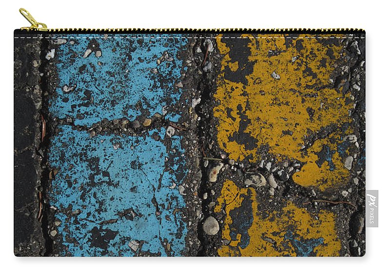 Maize And Blue Carry-all Pouch featuring the photograph Maize And Blue 2 by Mary Bedy