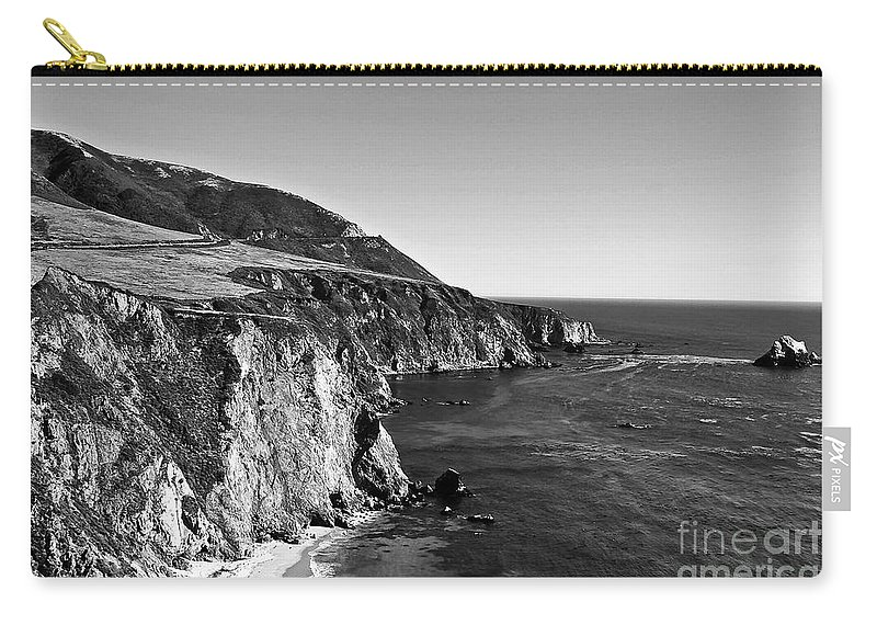 Black&white Carry-all Pouch featuring the photograph Majestic Coast by Scott Pellegrin