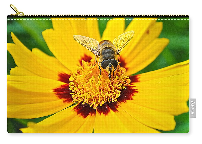Bee Carry-all Pouch featuring the photograph Majestic Granduer by Frozen in Time Fine Art Photography