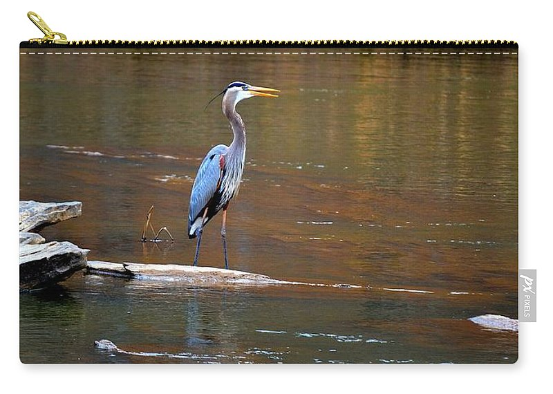 Heron Carry-all Pouch featuring the photograph Majestic Heron by Tara Potts