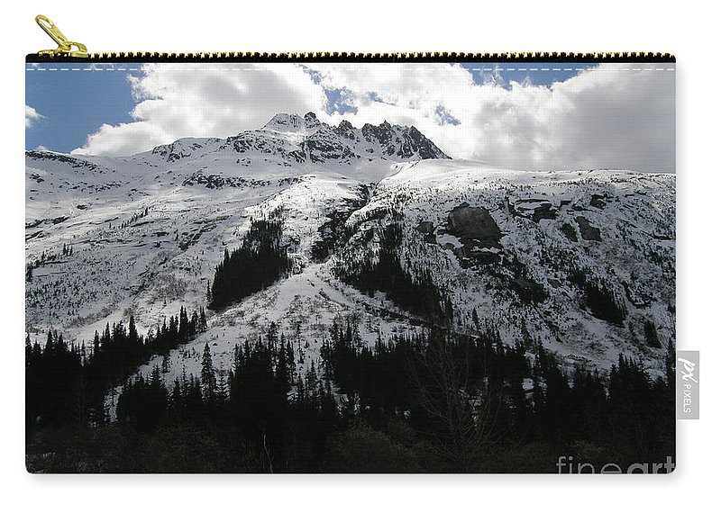 Skagway Carry-all Pouch featuring the photograph Majestic Skagway Mountaintop by Bev Conover