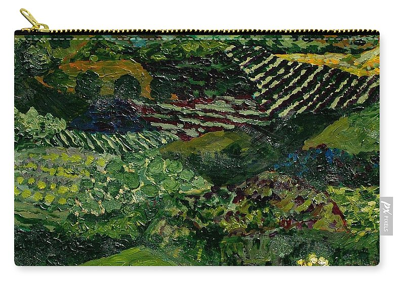 Landscape Carry-all Pouch featuring the painting Majestic Valley by Allan P Friedlander