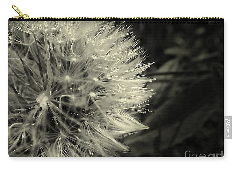 Dandelion Carry-all Pouch featuring the photograph Make A Wish by Clare Bevan
