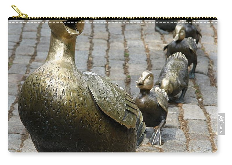 Ducklings Carry-all Pouch featuring the photograph Make Way For Ducklings by Christiane Schulze Art And Photography