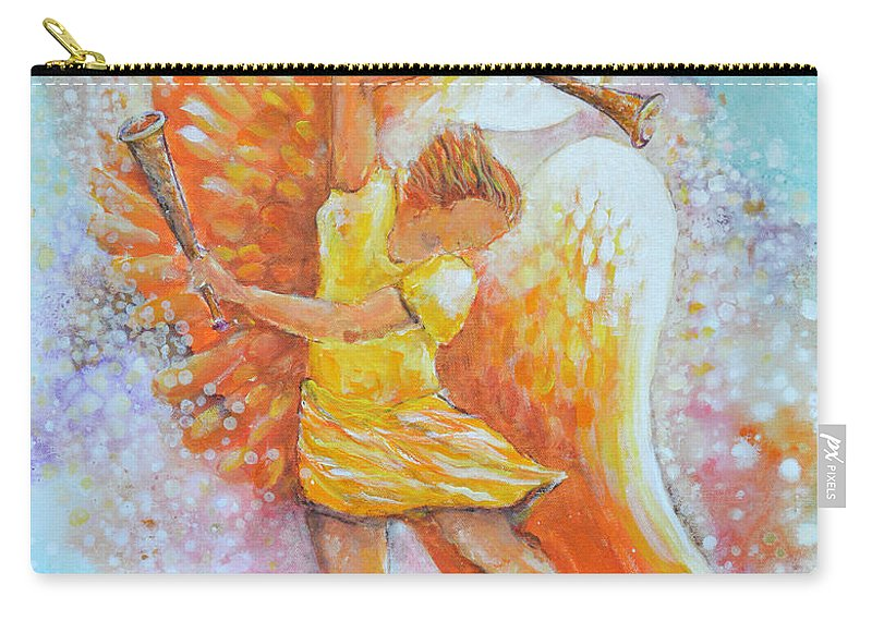 Angel Carry-all Pouch featuring the painting Make Your Soul Shine by Ashleigh Dyan Bayer