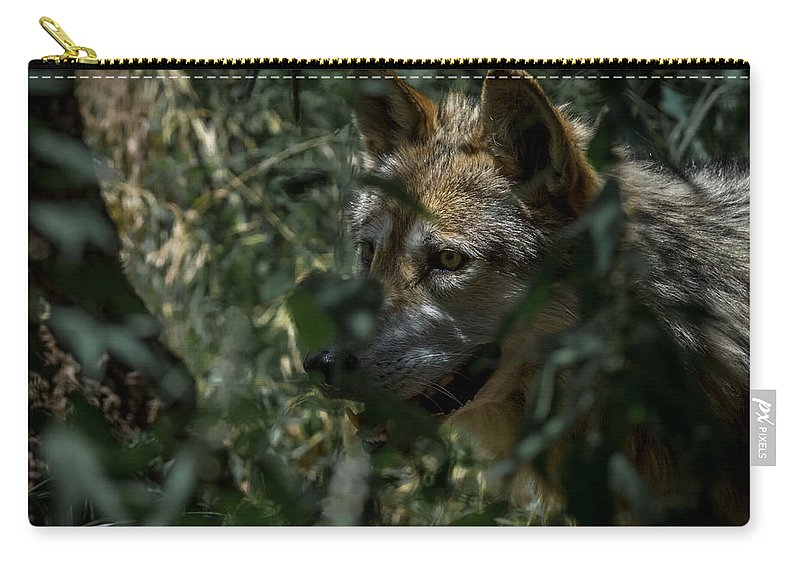Wolf Carry-all Pouch featuring the photograph Making Rounds by Ernie Echols