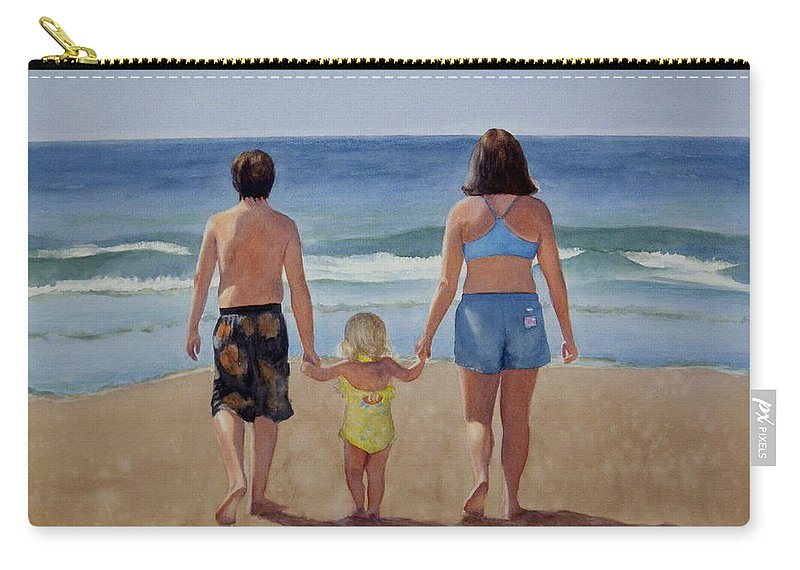 Children Carry-all Pouch featuring the painting Making Their Way by Lisa Pope