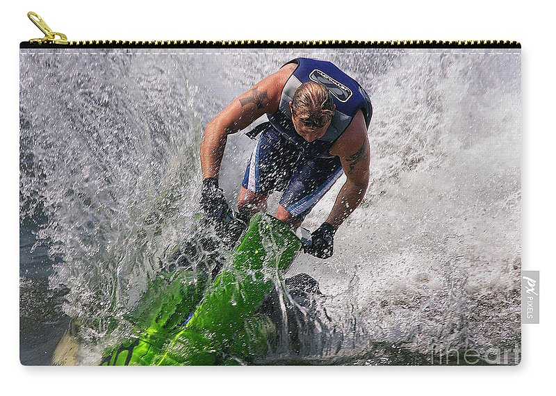 Jet Ski Carry-all Pouch featuring the photograph Making Waves by Geoff Crego