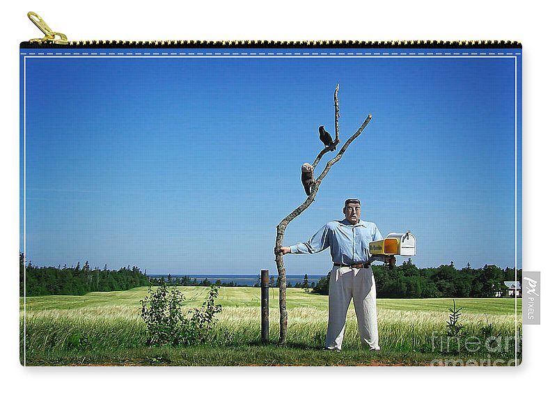 Mail Carry-all Pouch featuring the photograph Male Box Man by Edward Fielding