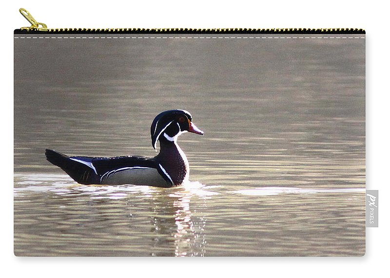Wood Duck Carry-all Pouch featuring the photograph Male Wood Duck - Sucarnoochee River by Travis Truelove