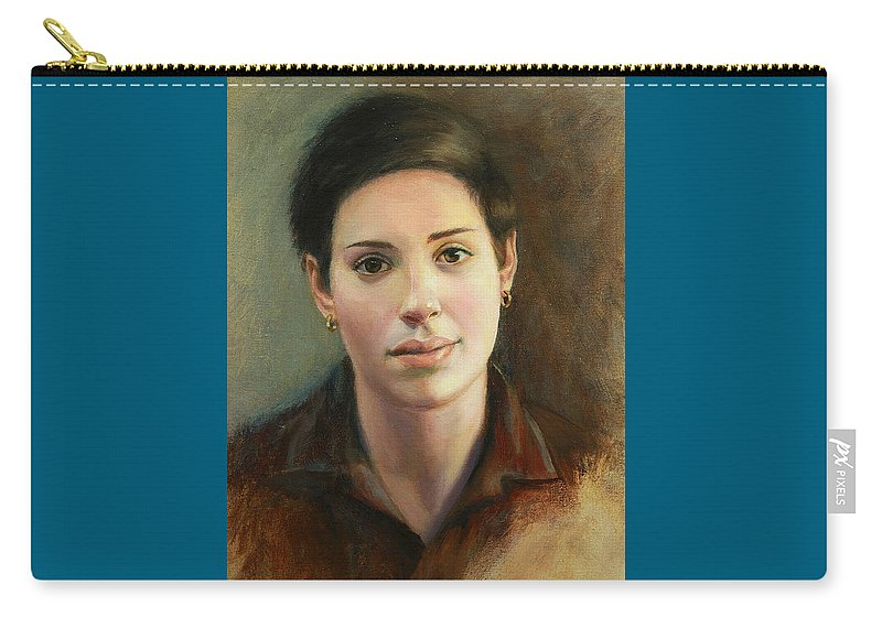 Figurative Carry-all Pouch featuring the painting Malena by Sarah Parks