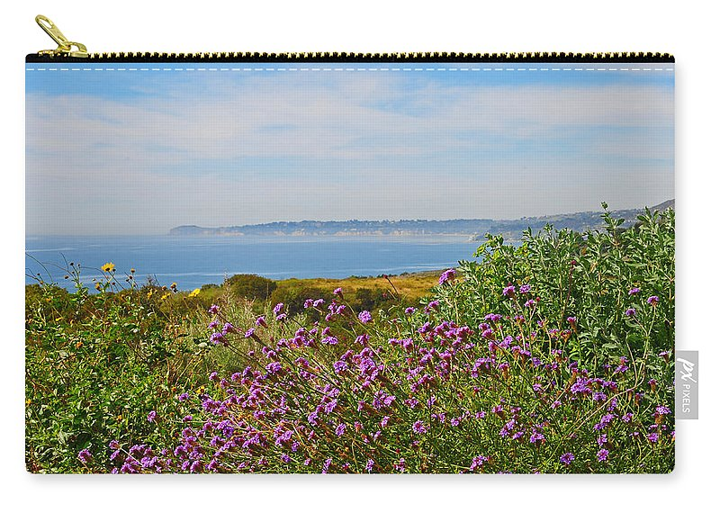 Malibu Carry-all Pouch featuring the photograph Malibu by Lynn Bauer