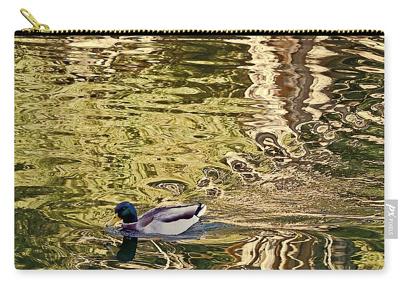 Anas Platyrhynchos Carry-all Pouch featuring the photograph Mallard Painting by Kate Brown