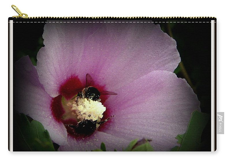 Marsh Carry-all Pouch featuring the photograph Mallow by Priscilla Richardson