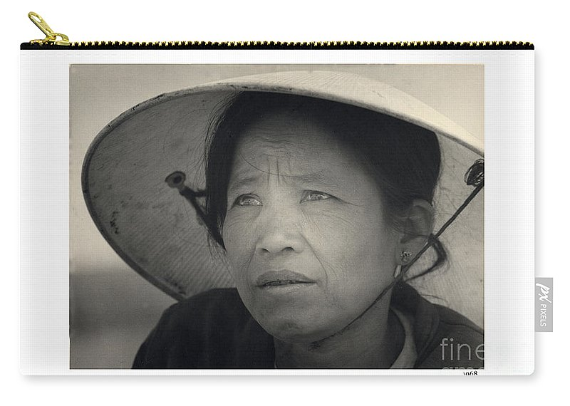 Mama San Carry-all Pouch featuring the photograph Mama San Pleiku Central Highlands Vietnam 1968 by California Views Archives Mr Pat Hathaway Archives