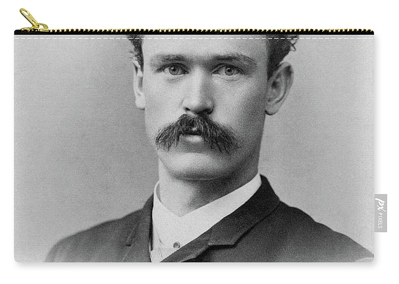 1890 Carry-all Pouch featuring the photograph Man, C1890 by Granger