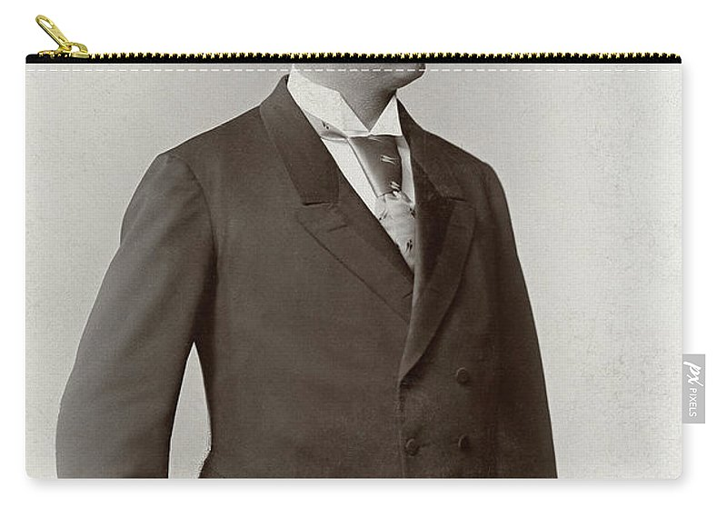 1890 Carry-all Pouch featuring the photograph Man, C1900 by Granger