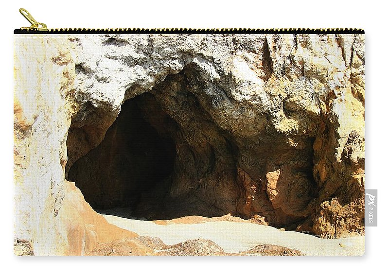 Cave Carry-all Pouch featuring the photograph Shell Beach Man Cave by Tap On Photo