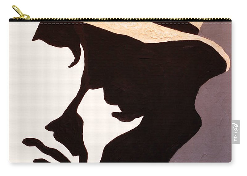 Man Carry-all Pouch featuring the painting Man In Hat by Andrew Petras