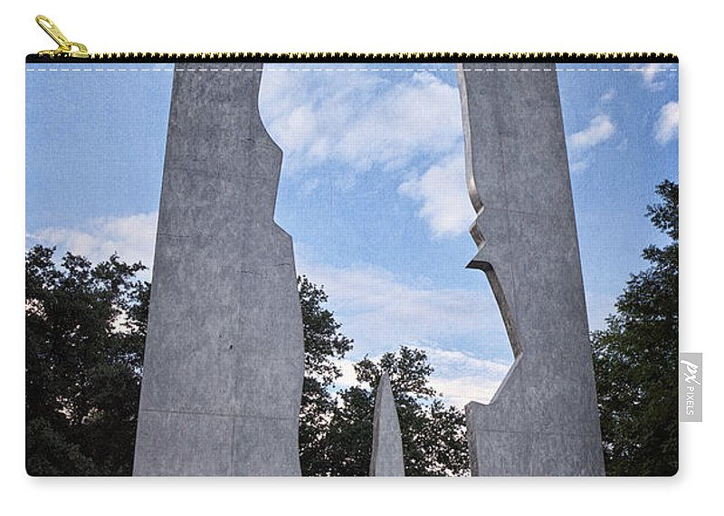Joan Carroll Carry-all Pouch featuring the photograph Man With A Briefcase II by Joan Carroll