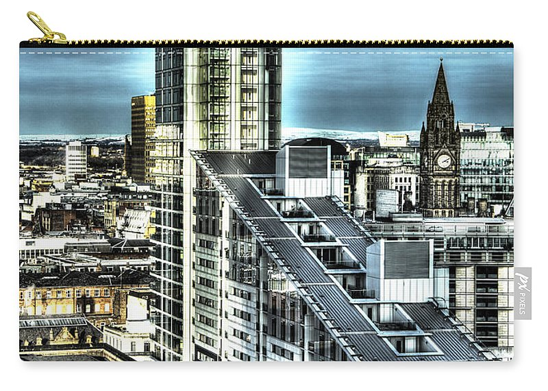 Sky Carry-all Pouch featuring the photograph Manchester Buildings Hdr by Nick Field