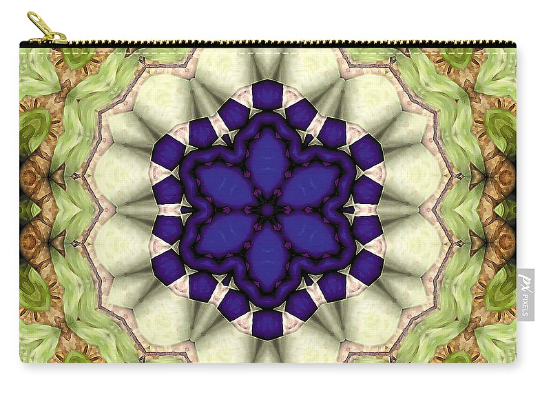 Geometric Art Carry-all Pouch featuring the digital art Mandala 114 by Terry Reynoldson