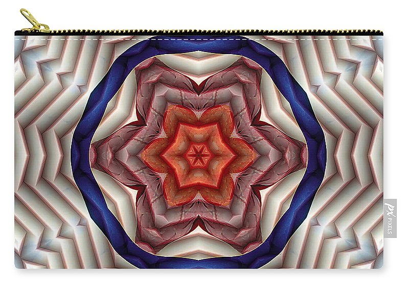 Relaxing Pattern Carry-all Pouch featuring the digital art Mandala 12 by Terry Reynoldson