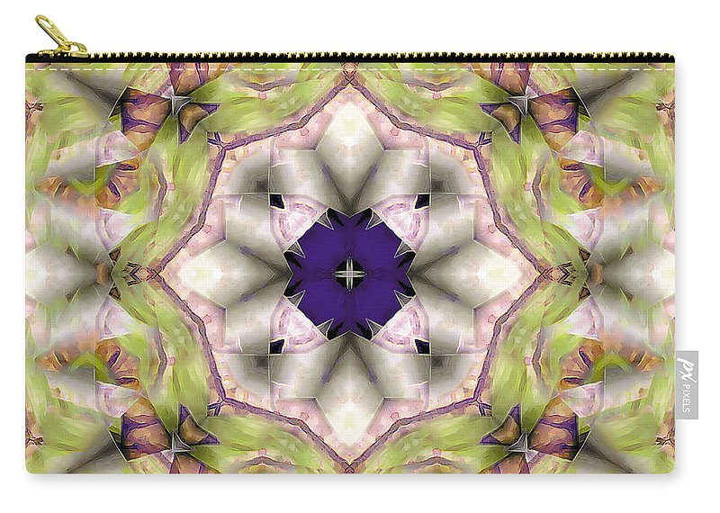 Relaxing Pattern Carry-all Pouch featuring the digital art Mandala 127 by Terry Reynoldson