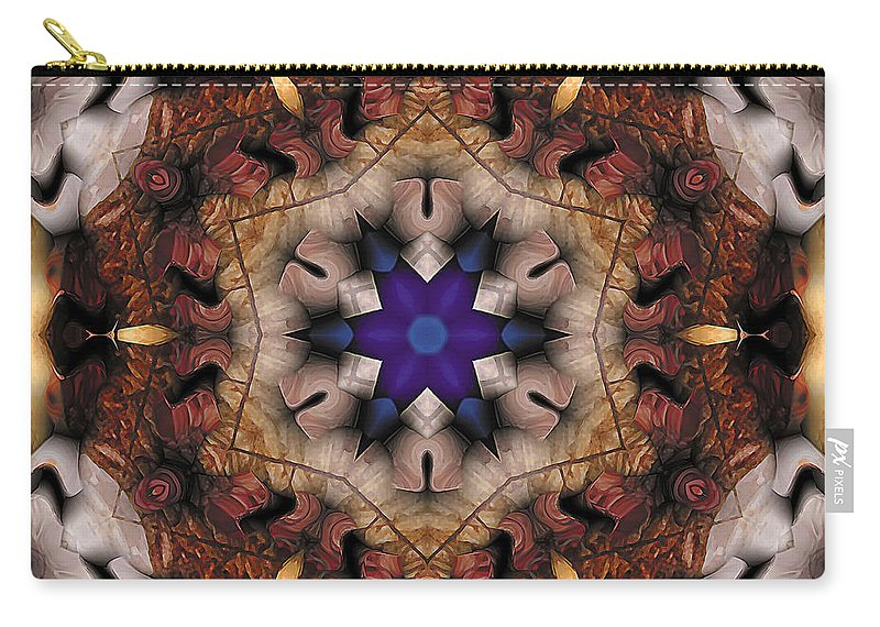 Relaxing Pattern Carry-all Pouch featuring the digital art Mandala 16 by Terry Reynoldson