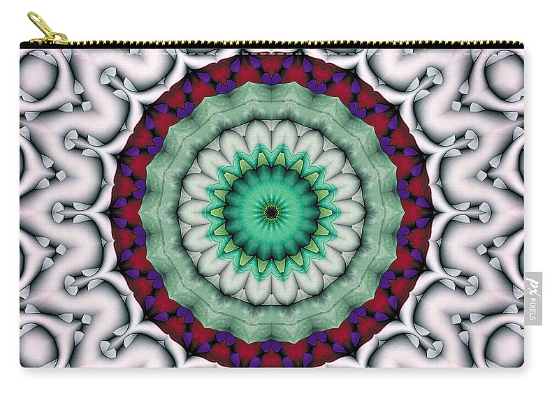 Relaxing Pattern Carry-all Pouch featuring the digital art Mandala 9 by Terry Reynoldson