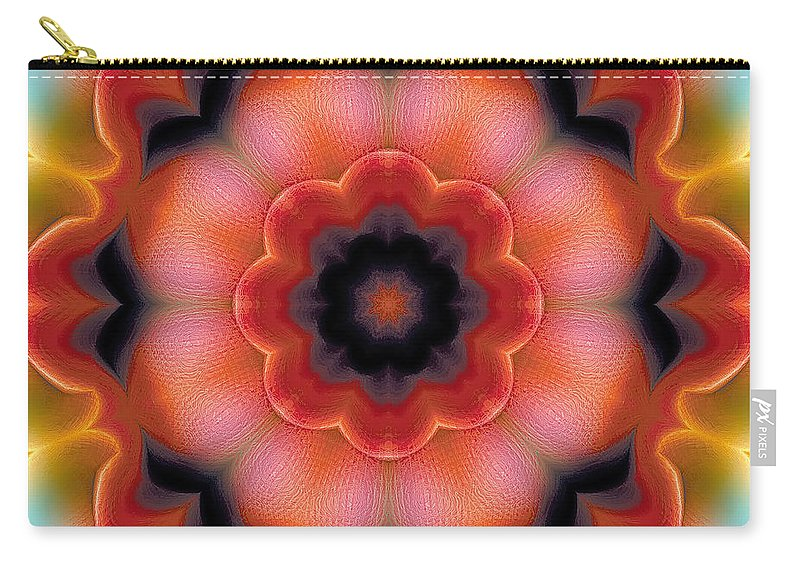 Relaxing Pattern Carry-all Pouch featuring the digital art Mandala 91 by Terry Reynoldson