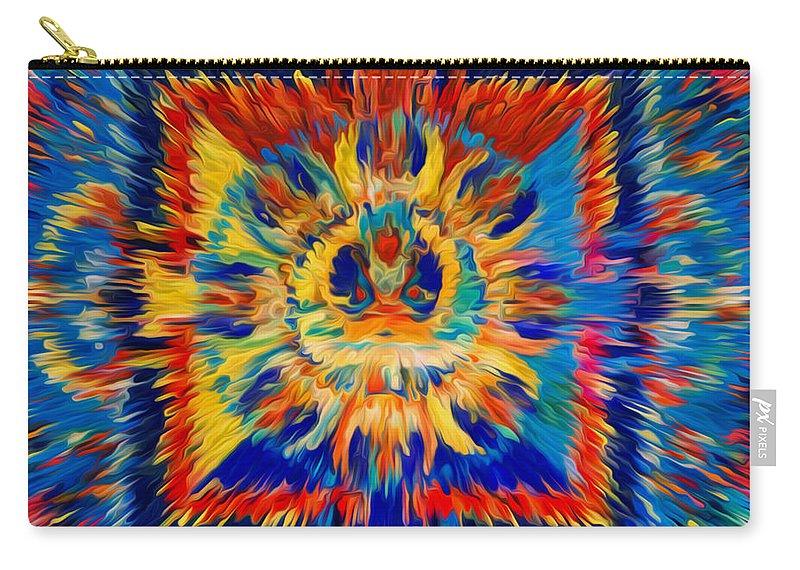 Mandala Amitayus Buddha Carry-all Pouch featuring the painting Mandala Amitayus Buddha by Jeelan Clark