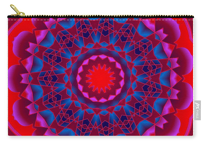 Mandala Art Carry-all Pouch featuring the digital art Mandala Dawn by Mario Carini